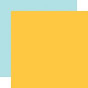 Yellow / Lt. Blue Coordinating Solid Paper - Birthday Boy - Echo Park - PRE ORDER - PRE ORDER