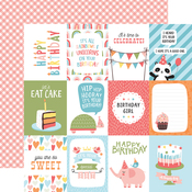 3X4 Journaling Cards Paper - Birthday Girl - Echo Park - PRE ORDER