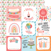 4X4 Journaling Cards Paper - Birthday Girl - Echo Park - PRE ORDER