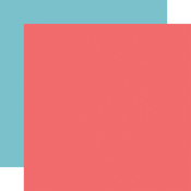 Dk. Pink / Blue Coordinating Solid Paper - Birthday Girl - Echo Park - PRE ORDER