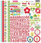 Let Us Adore Him Doohickey Cardstock Stickers - Bella Blvd