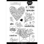 Floral Heart 6x8 Stamps - Say It With Stamps - Photoplay - PRE ORDER