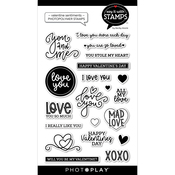 Valentine Sentiments 4x6 Stamps - Say It With Stamps - Photoplay - PRE ORDER