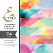 Gel Printing: Soft Washes 6x6 Paper Pack - Altenew