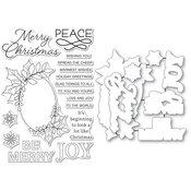 Festive Christmas Greetings Stamp & Die Set - Memory Box - PRE ORDER