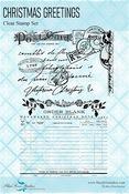 Christmas Greetings Clear Stamps - Yuletide - Blue Fern Studios - PRE ORDER