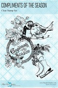 Compliments Of The Season Clear Stamps - Yuletide - Blue Fern Studios - PRE ORDER
