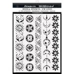 Symbols And Borders Stencil - Alchemy - Stamperia - PRE ORDER