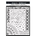 Planet Chart Stencil - Alchemy - Stamperia - PRE ORDER