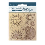 Sun And Moon Decorative Chips - Alchemy - Stamperia - PRE ORDER