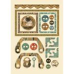 Frames And Buttons Wooden Shapes - Klimt - Stamperia - PRE ORDER