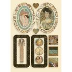 Bag Handles And Hearts Wooden Shapes - Klimt - Stamperia - PRE ORDER