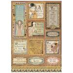 Quotes And Labels Rice Paper - Klimt - Stamperia - PRE ORDER
