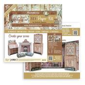 Lady Vagabond Lifestyle 3D Furniture Paper Kit - Stamperia - PRE ORDER