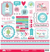 Let It Snow This & That Sticker Sheet - Doodlebug - PRE ORDER