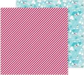 Candy Cane Lane Paper - Let It Snow - Doodlebug - PRE ORDER