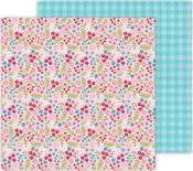Frosty Floral Paper - Let It Snow - Doodlebug - PRE ORDER