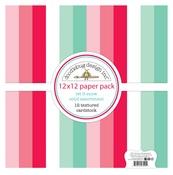 Let It Snow Textured 12x12 Paper Pack - Doodlebug - PRE ORDER