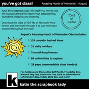 Farewell Sale! An Amazing Month of Memories Downloadable Class ? August