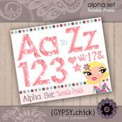 Twinkle Pinkle Alpha Set