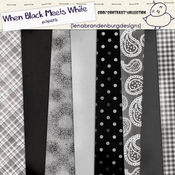 When Black Meets White Paper Pack