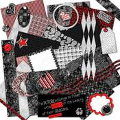 What's Black White & Red All Over?