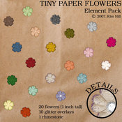 Tiny Paper Flowers Element Pack