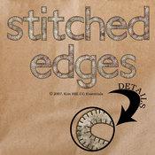 Stitched Edges Alphabet Set