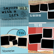 Layers with A Lift Layered Templates Set 5