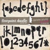 Finepoint Doodle Alpha Set