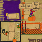 Fall-Oween Quick Page Set