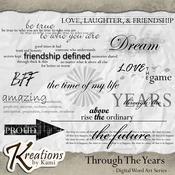 Through The Years Digital Word Art Series