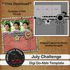 Digi Do-Ables July Template