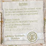 Sublime Symbols - Dotsies *CU*