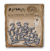 Alphabet Soup Stamped Silver Alpha