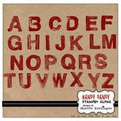 Handy Dandy Stamped Alpha Set