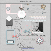 A Beautiful Day Digital Scrapbooking Elements Pack