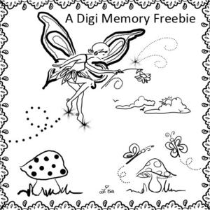 Free Fairy / Fairie Doodles