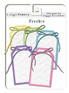 Crumpled tags Freebie