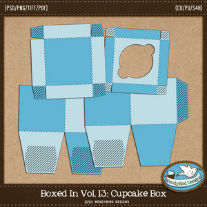 Wendy Bird Designs Cupcake Box