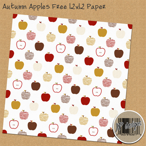 Autumn Apples Paper Freebie