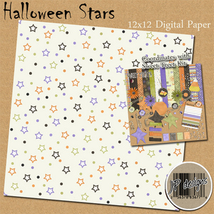 Halloween Star digi paper freebie