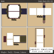 Night Fall Clean Lines Templates