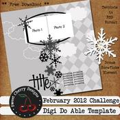Digi Do-Ables February Template