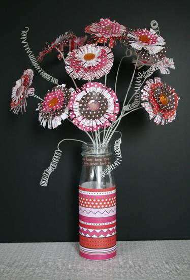 paper crafts for kids: how to make paper fringe flowers