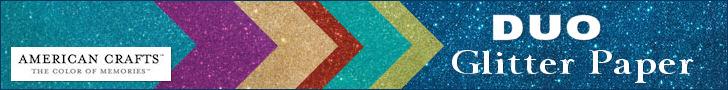 American Crafts: Duo Glitter Paper