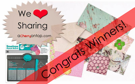 facebook envelope punch board giveaway