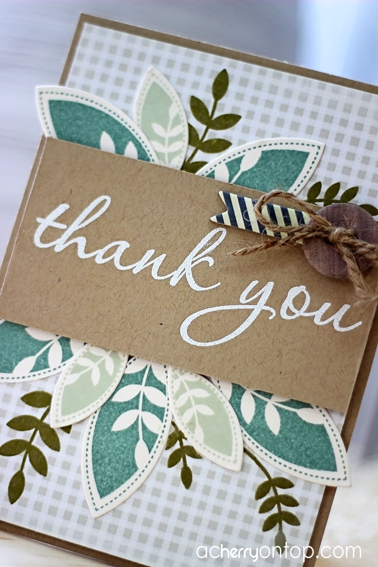 thank you card a cherry on top jean martin