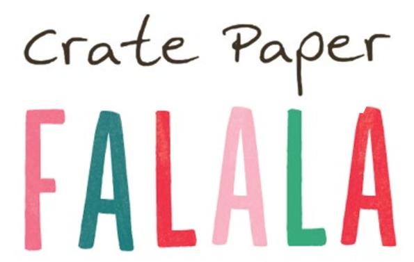 Falala Fa La La Crate Paper American Crafts