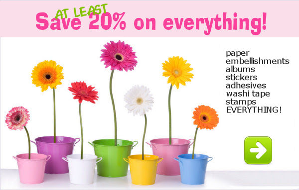 Save at least 20% on everything* today